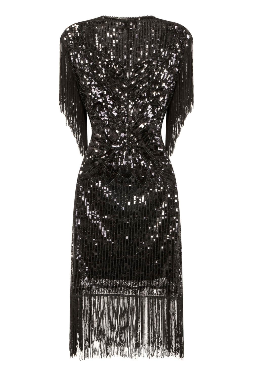 Sequin Blouse Dress