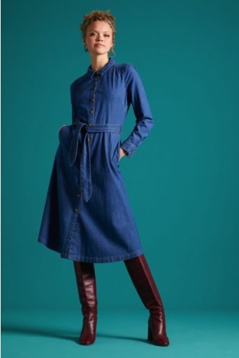 Olive Dress Chambray River Blue Longsleeve