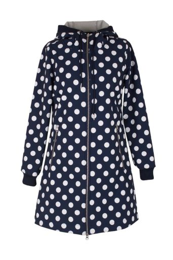 Jane Softshell Jas Navy/offwhite dots