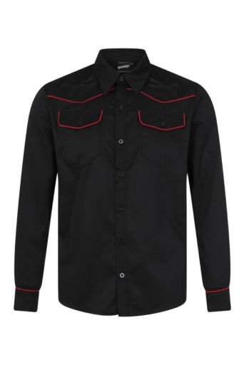 Retro Overhemd Black Red