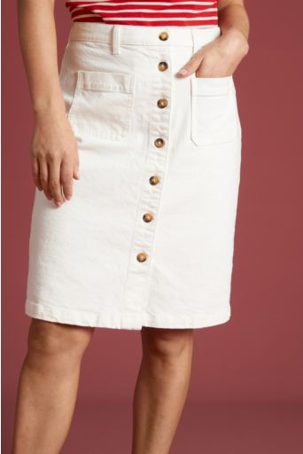 Angie Pocket Skirt Sweet Denim Gardenia