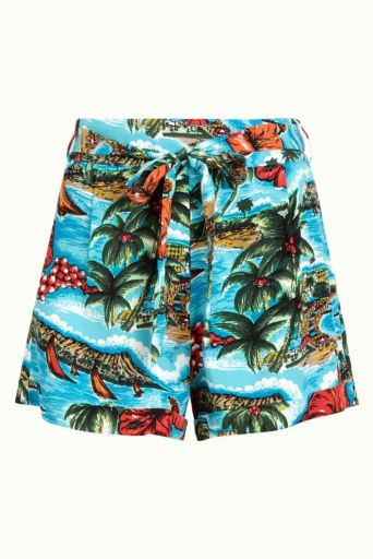 Roisin Shorts Great White Ocean Blue