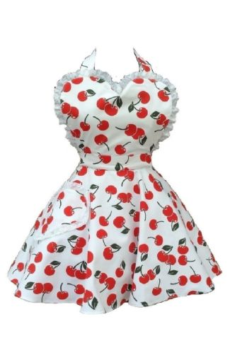 Cherry Bakes Well Sweetheart Aprons