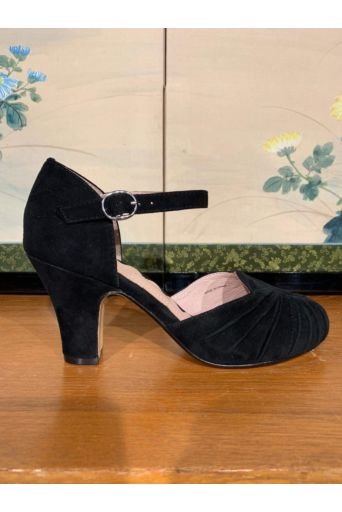 Amber Pumps Black  Suede
