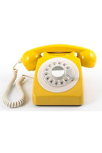 Retro Huistelefoon in Mosterd Geel.