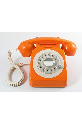 Retro Huistelefoon in Oranje.