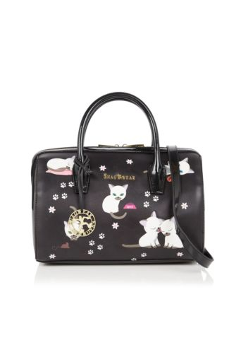 Playful Kittens Handbag Black