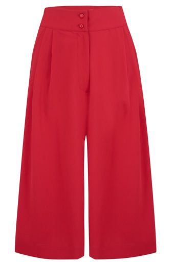 Sophia Culottes Solid Red