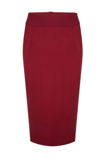 Pencil Skirt Wine Rood