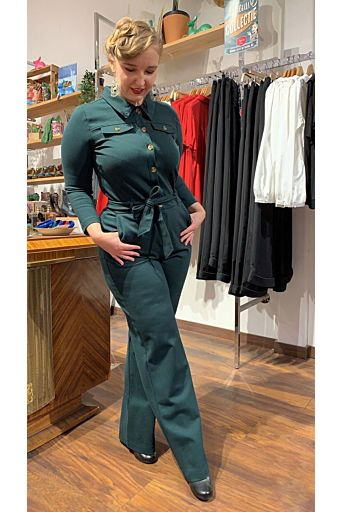Olive Jumpsuit Uni Rodeo Sycamore Groen